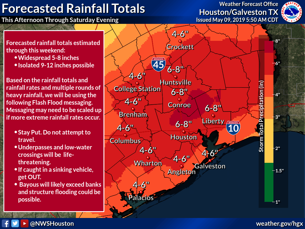 5.9.19 to weekend possible rain
