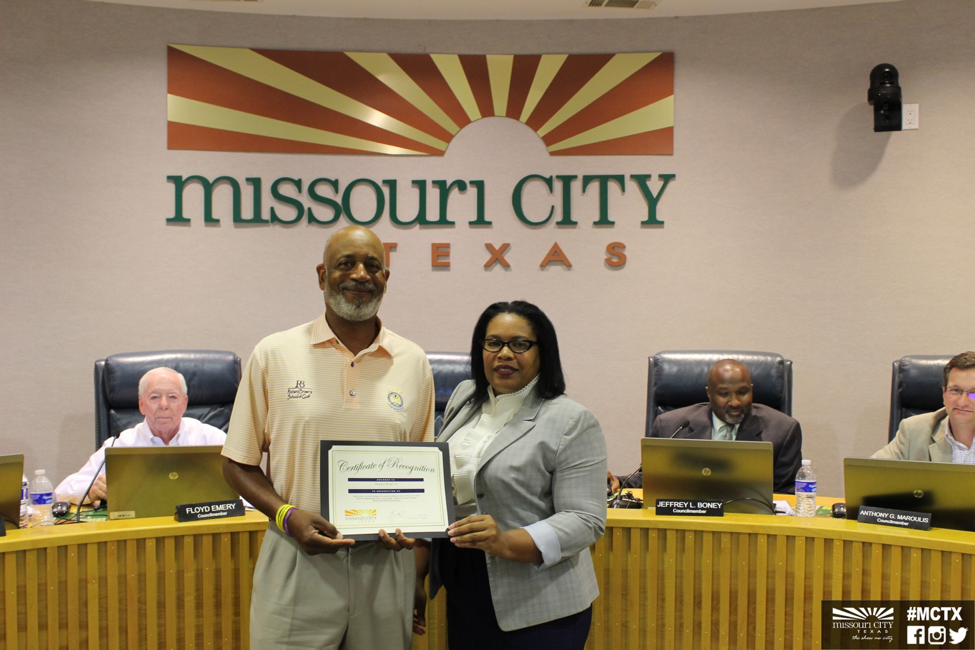 Richard Brown Council Recognition
