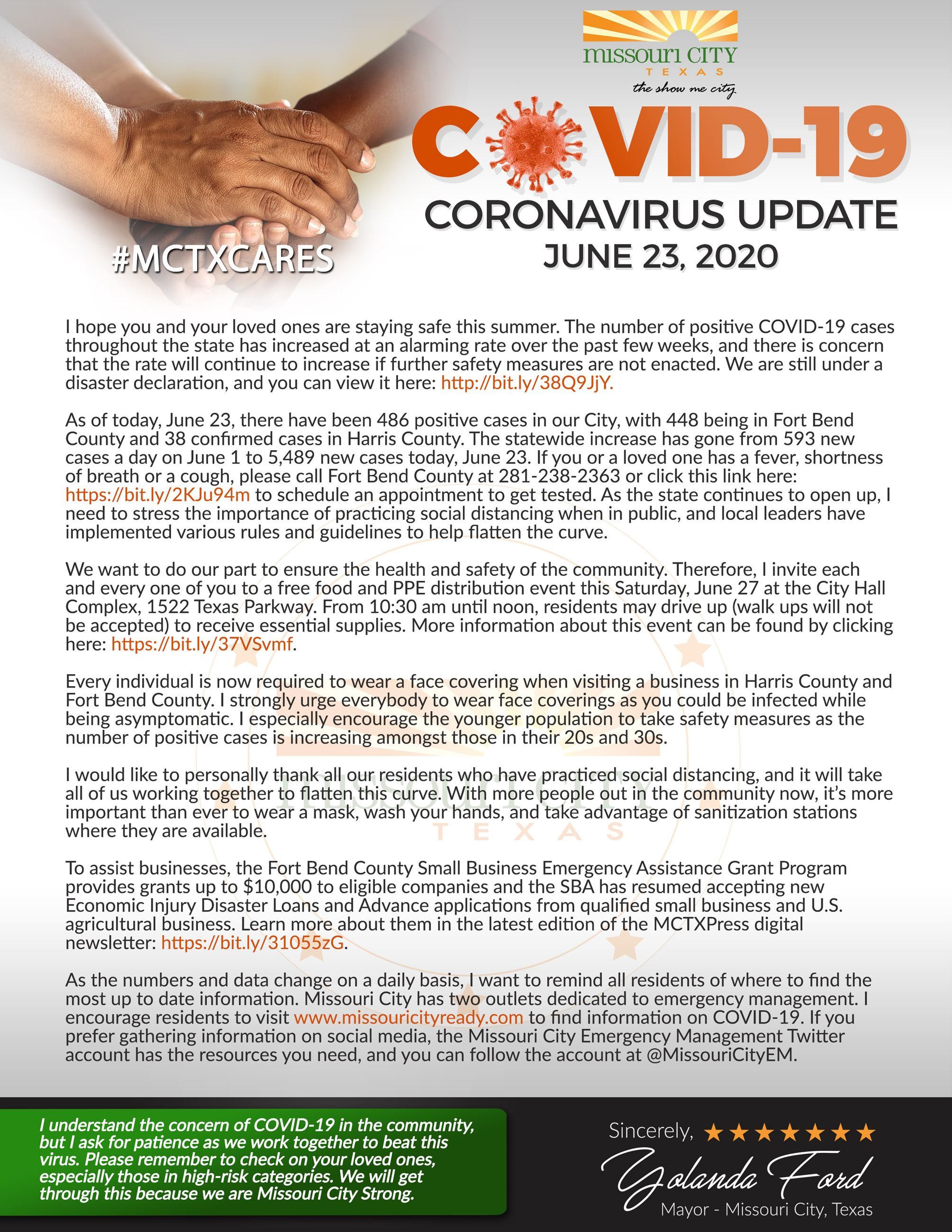 6..23.20 Mayor's COVID-19 Update
