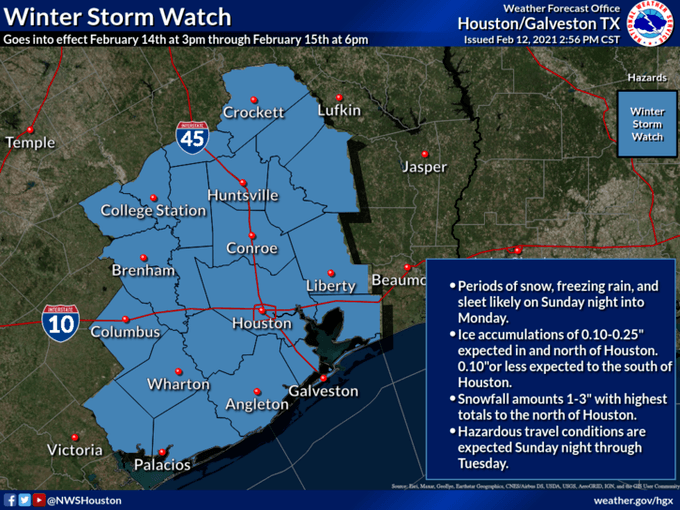 2.14.21 Winter Storm Watch