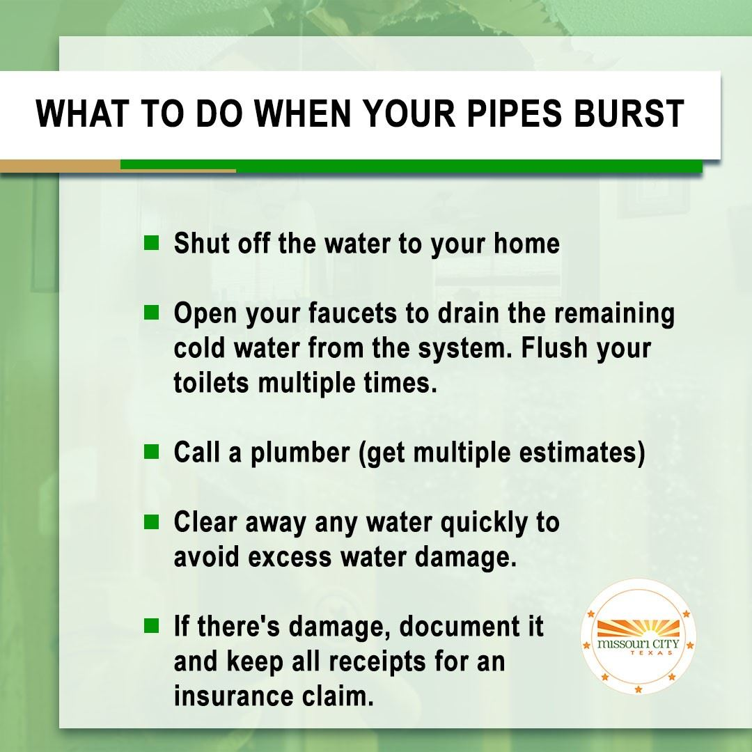 Pipe Burst Tips